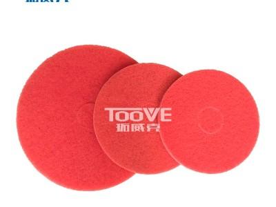 拓威克洗地机配件专用百洁垫 通用红色清洁垫